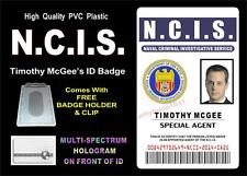 NCIS ID badge / Card Prop (TIMOTHY MCGEE) Special Agent - HIGH QUALITY PVC