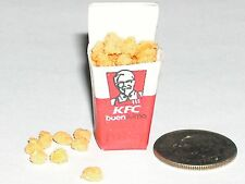 9pc Miniature dollhouse tiny KFC Popcorn Chicken Loose nuggets Halloween food