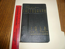 1938 Pocket Factograph Facts Book Car & Truck Comparisons - Ford Lincoln Zephyr