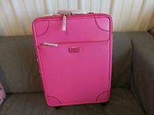 Kate Spade International Carry On Vivid Snapdragon Pink Leather Spinner Suitcase