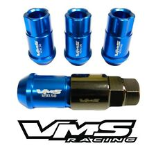 BLUE 4PC LOCKING LUG NUTS WITH KEY SUBARU IMPREZA WRX STI RS 2.5 4DR