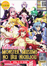 Monster Musume no Iru Nichijou DVD (Vol : 1 to 12 end) with English Subtitle