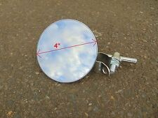 """(x1) 4"""" round MIRROR for HANDLE BARS on motorcycle, scooter, swivel, bar mounted"""