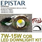 Led Downlight Kit Complete Dimmable Ceiling Bulb Warm Cool White GU10 7W-15W COB