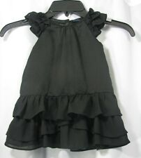 BABY GAP GIRL TODDLER BLACK HOLIDAY XMAS PORTRAIT PICTURE DRESS RUFFLES 12-18