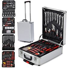 399 Piece Mechanic Kit Box Carry Case Toolbox Tools Lock Storage Organizer Set