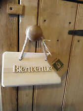 French Style Wooden Bienvenue Hanger for Crafting .