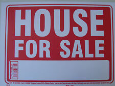 "HOUSE FOR SALE. Sing Plastic Sign ...12"" x 9"" #12607 new"