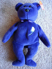 """Ty Beanie Baby Princess Di Diana 1997 """"410"""" Stamp P.E. Pellets Never Displayed"""