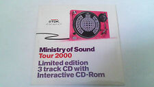 "MINISTRY OF SOUND ""TOUR 2000"" CD SINGLE 3 TRACKS"