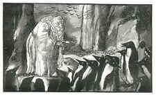 Der HEILIGE der PINGUINE - Edy LEGRAND 1929 - Original Holzschnitt - Probeabzug