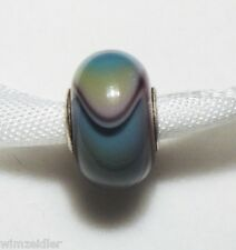 Authentic Trollbeads Tibet Armadillo, Museumsbead, Retired, Green Lilac Dillo