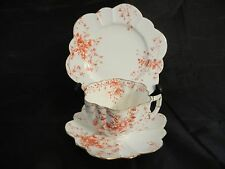 VINTAGE FOLEY  WILEMAN SHELLEY TRIO SET  CUP & SAUCER & PLATE CIRCA 1888   - EXC