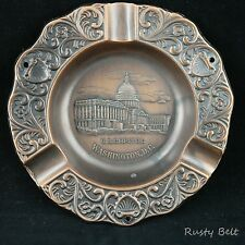 US Capitol Washington DC Copper Colored Ashtray with 3 place holders
