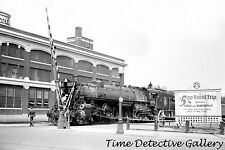 Great Northern Railway Locomotive in Railyard, Fargo, N.D.- Historic Photo Print