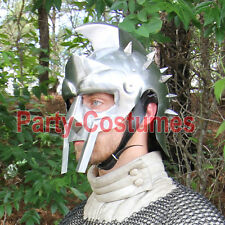 Medieval Helmet of the Spaniard Maximus Roman Gladiator 18 Gauge Replica