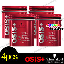 4x Schwarzkopf OSIS+ THRILL Fibre Elastic Gum Strong Control Hair Styling 100ml