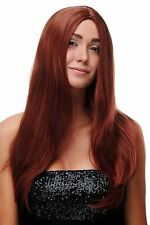 Wig Red Copper red long smooth Parting Middle part strictly 23 5/8in SA-151-350