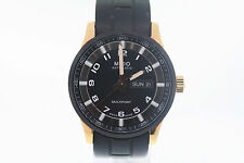 Men's Mido Multifort M0054303705709 Automatic Black & Rose Gold Rubber Watch