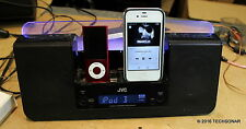 """JVC NX-PN10 """"Dual Play""""  that can play-change and charge two iPods or iPhone 3gs"""
