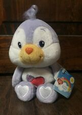 """NEW 2002 Care Bear Cousin """"Cozy Heart Penguin"""" 8"""" Collectible Beanie Plush w/Tag"""