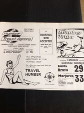 62-7 Ephemera 1964 Lincoln Advert Humber Travel Agency Grimsby