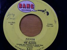 """THE McCOYS 45 RPM """"Fever"""" & """"Sorrow"""" VG- to VG condition"""