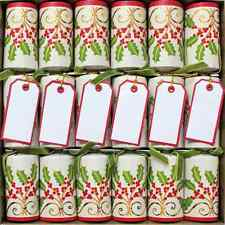Christmas Crackers Party Poppers Luxury Christmas Party Cracker & Place Card 6Pc