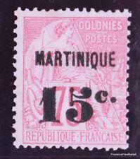 FRANCE  Colonies Françaises Martinique 15c sur 75c  Yt 18 Neuf * Scott  20 an10