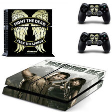 The Walking Dead Skin Sticker For Sony PS4 Console+2 Controllers Skin Decal