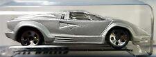 Hot Wheels 1999 Collector 1089 25th Anniversary Lamborghini Countach Silver 1:64