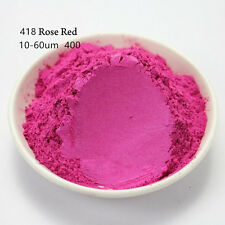 10g Natural Mica Pearl Powder Pigment Soap Candle Cosmetic Colorant Rose  418#