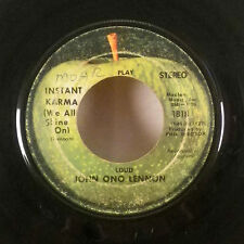 "John Lennon Yoko Ono Instant Karma We all Shine on 7"" 45 Apple GD"