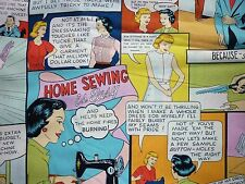 OFFCUT HOME SEWING IS EASY OLD FASHIONED WOMEN FABRIC WRITING VINTAGE RETRO