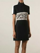 BNWT: CARVEN Snake Print Black Mini Dress FR 36 / UK 8 // RRP £650