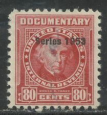 us revenue documentary stamp scott r632 - 80 cent issue of 1953 - #2
