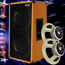 2x12 Vertical Guitar Speaker Cabinet Orange Tolex W/Celestion Vintage 30 Spkrs