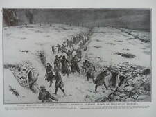 1917 WINTER WARFARE SURPRISE ATTACK ON SNOWY TRENCHES WESTERN FRONT WWI WW1