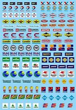 Motorsport Sponsoren Bogen No.12 Elf, Gulf, Mobil ... 1:43 Decal Abziehbilder