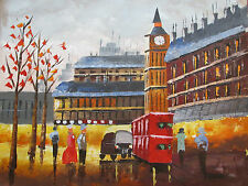 romantic old london large oil painting canvas English original city art British