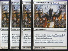 XXX 4x espadas a rejillas Swords to plowshares alemán EVT (White) nm XXX