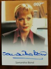 James Bond Archives Samantha Bond Signed Trading Card
