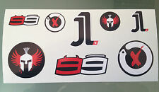 Jorge Lorenzo Stickers - Decal Sticker kit (DL Size sheet)