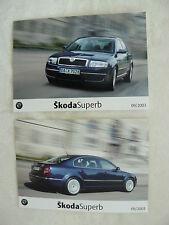 Skoda Superb I - Typ 3U - 2x Presse-Fotos press-photos 09.2003  (S0048