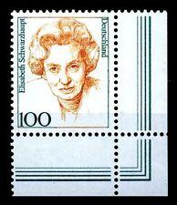 BUND Frauen  100 Pf. **, Mi. 1955 -  Eckrand u.r.