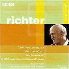 Richter Liszt Piano Concerti Nos 1 & 2 Hungarian Fantasia Chopin CD BBC Legends