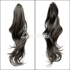 Wowen Girl Straight Curly Wavy Claw Clip Ponytail Pony Wigs Hair Extension New