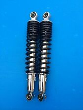 universal rear shock absorbers for motorcycle 310 mm black spring body chrome