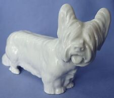 "8"" MEISSEN SKYE SILKY TERRIER DOG GERMANY"