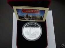 New Zealand: 1997 Uncirculated $5 Silver Proof Coin Christchruch Chathedral Rare